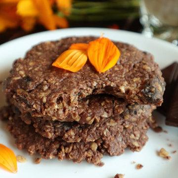 Шоколадное овсяное печенье рецепт веганский, без сахара, без глютена, без выпечки 1