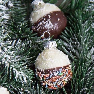 Съедобные новогодние шары без выпечки