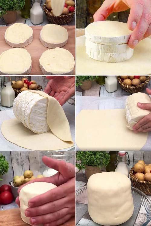 Сыр в духовке камамбер Фондю-башня 1