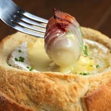 Сыр в духовке камамбер Фондю-башня 3