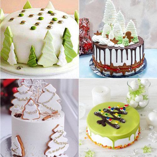 1. Как украсить Новогодние торты 2021