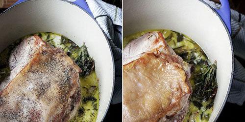 Как запечь свинину в духовке кус