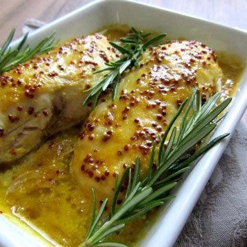Курица по-парижски в горчичном соусе Chicken à la Moutarde Parisienne