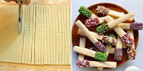 Раскатать тесто для печенья