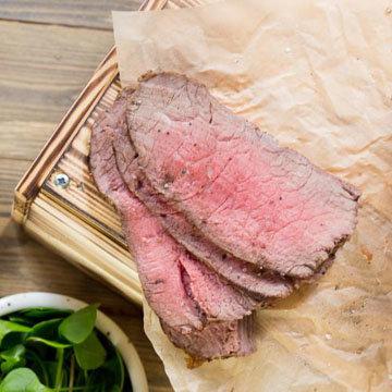 Ростбиф из говядины в духовке при 80 ° C 1