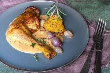 курицу по-парижски в горчичном соусе приготовить легко