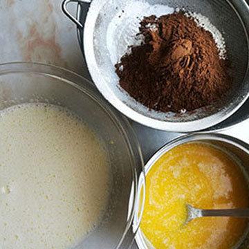 Шоколадный молочный пирог 4