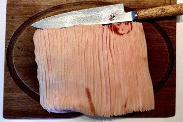 прорезать кожу