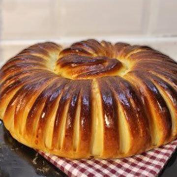 Домашний хлеб в духовке Тюрбан