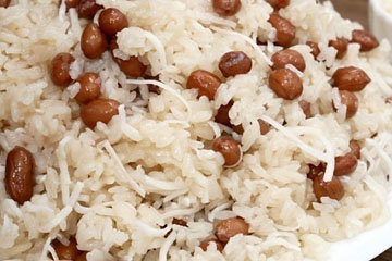 Липкий рис с арахисом на пару 4