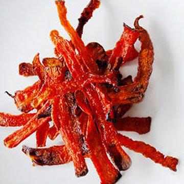 Натуральные чипсы из моркови