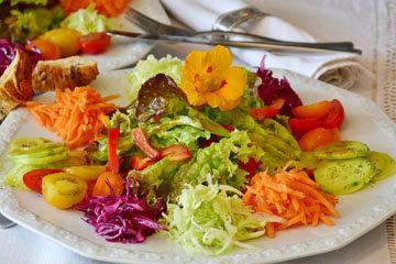 Постные салаты с растительным маслом