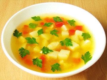 Суп диетический картофельный с овсяными хлопьями
