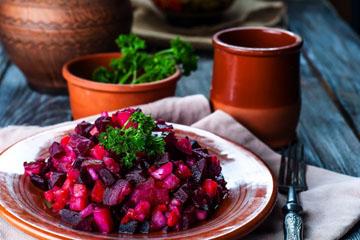 Винегрет - теплое овощное блюдо