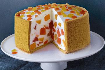 Детский желейный торт Мозаика 1