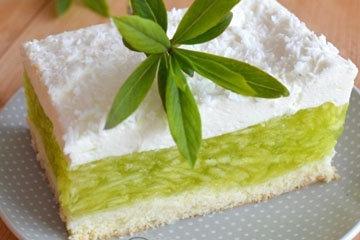 Желейный торт без выпечки Зеленое яблочко 1