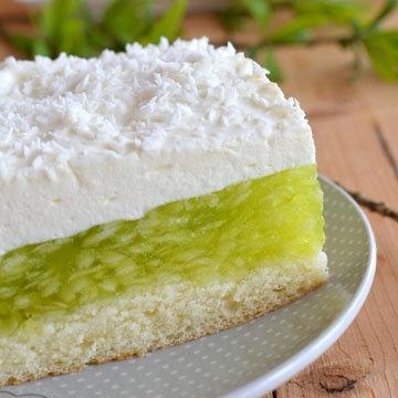 Желейный торт без выпечки Зеленое яблочко 2