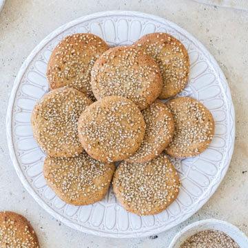 Кунжутное печенье ПП рецепт