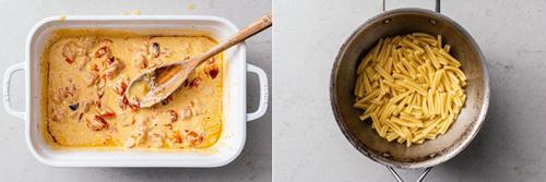 Как приготовить пасту с сыром фета и помидорами в духовке 2