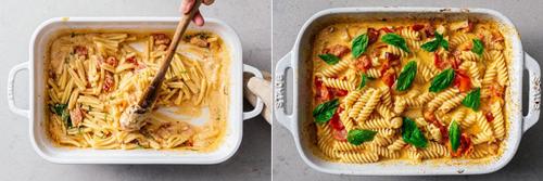 Как приготовить пасту с сыром фета и помидорами в духовке 3