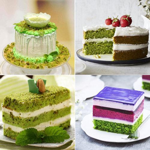 Оформление зеленого торта 3