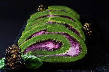 печь зеленый торт
