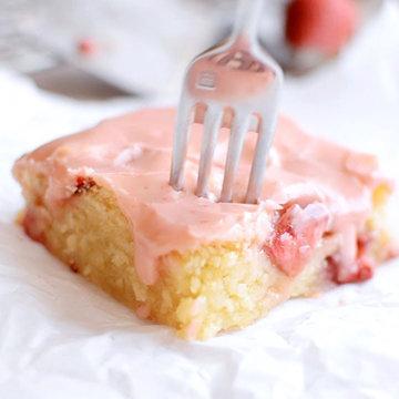 клубнично-лимонный пирог
