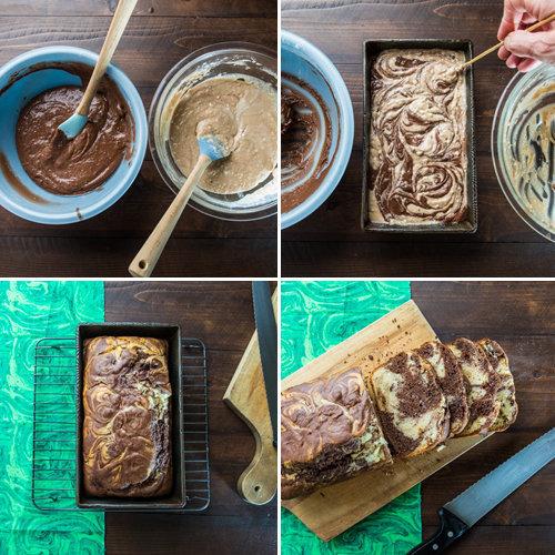 Мраморный кекс рецепт из мороженого 2